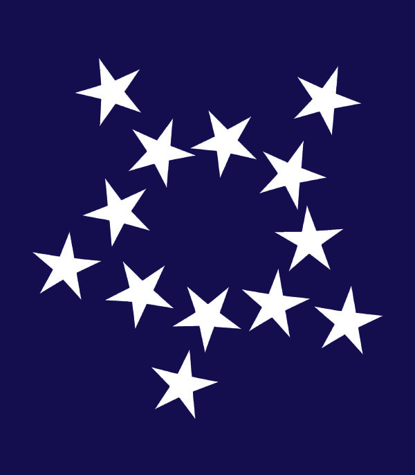 A galaxy of new constellations this flag from the 1780s has the 13 stars representing the original colonies however instead of the familiar circle pattern of the betsy ross flag the publicscrutiny Choice Image