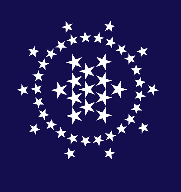 A galaxy of new constellations the great star is patterned after the great seal of the united states and also contains 13 stars publicscrutiny Choice Image